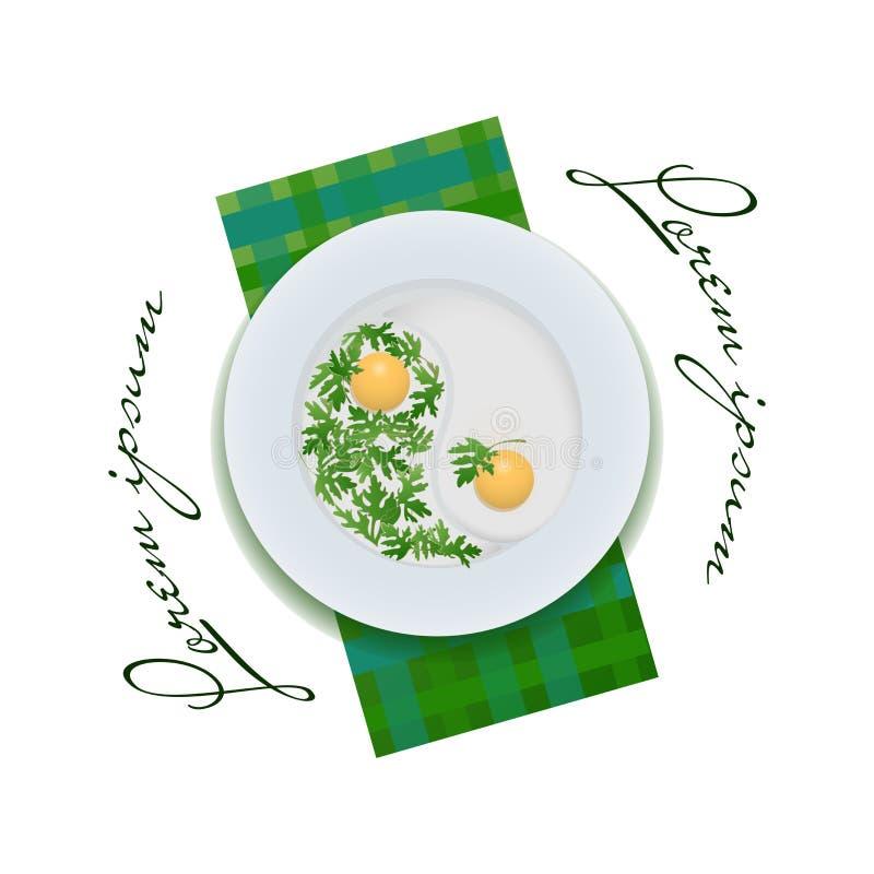 Uova fritte su una zolla royalty illustrazione gratis