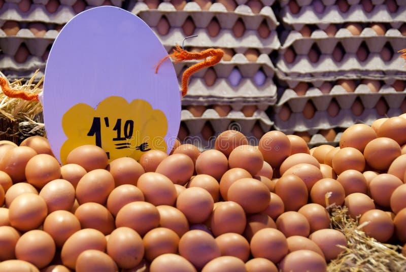 Uova nel servizio fotografia stock