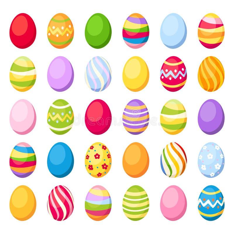 Uova variopinte di Pasqua. Illustrazione di vettore. illustrazione di stock