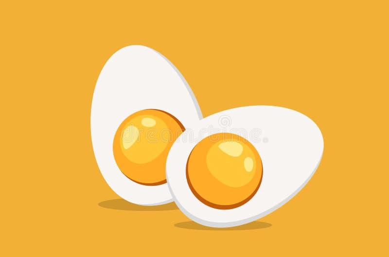 Uovo affettato duro bollito royalty illustrazione gratis