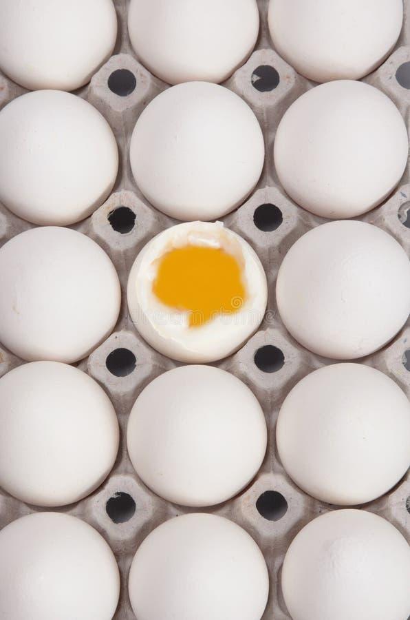 Uovo bollito immagini stock