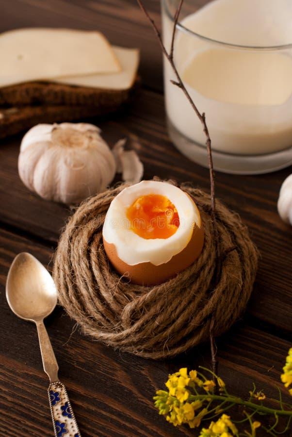 Uovo bollito fotografia stock