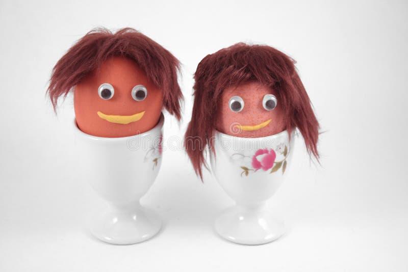 Uovo della sig.ra e del sig. Brown fotografia stock libera da diritti