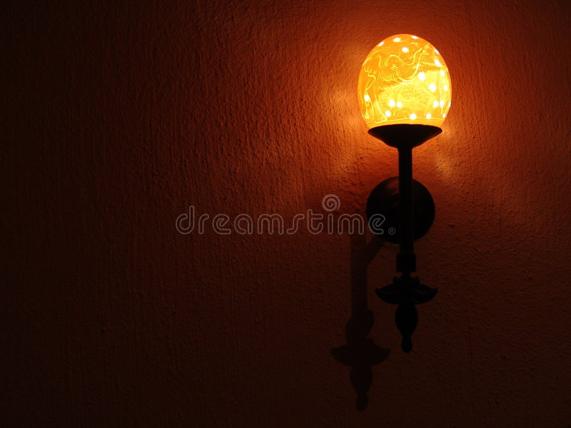 uovo dello struzzo della lampada fotografia stock libera da diritti