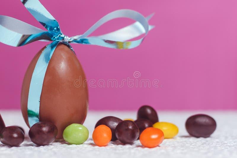 Uovo di cioccolato di Pasqua fotografia stock