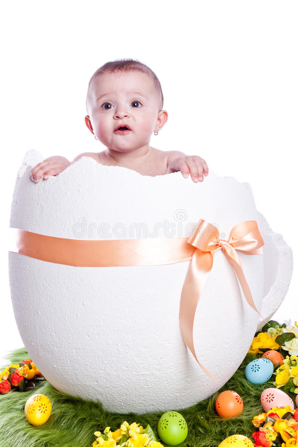 Uovo di Pasqua Con il bambino fotografia stock