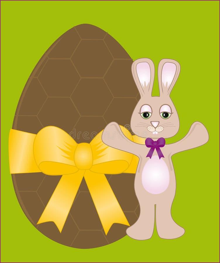 Uovo di Pasqua & coniglietto del cioccolato fotografia stock
