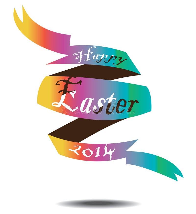 Uovo di Pasqua del nastro immagine stock