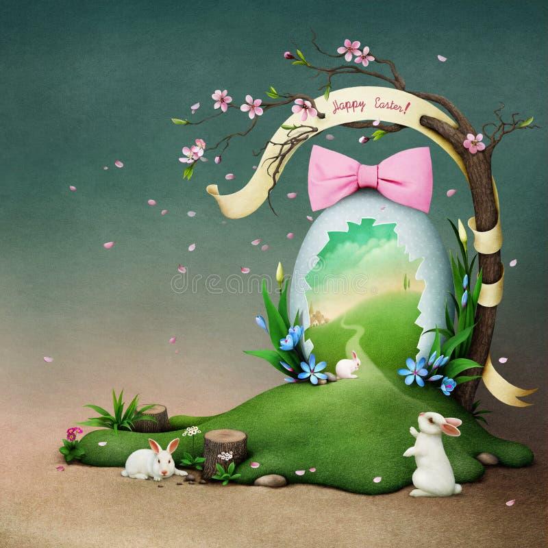 Uovo di Pasqua di festa royalty illustrazione gratis