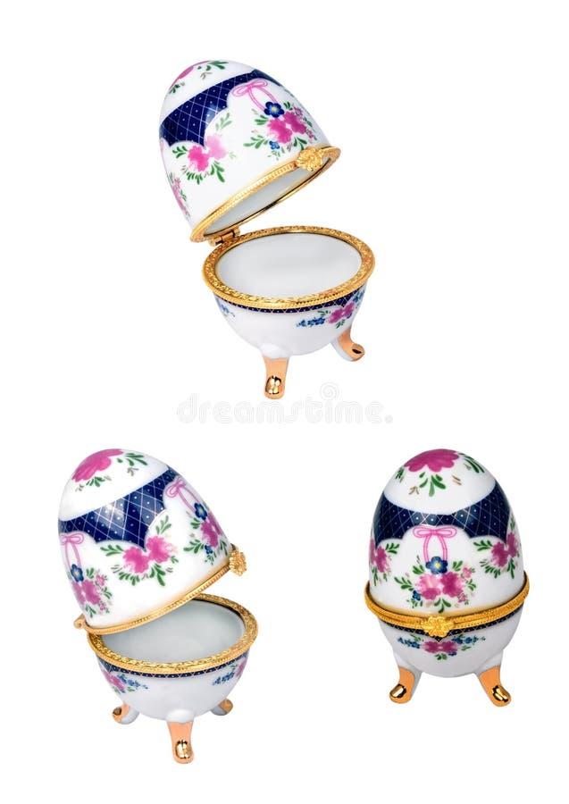 Uovo di Pasqua di Porselain immagini stock libere da diritti