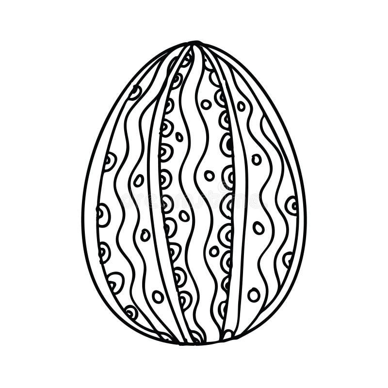Uovo di Pasqua floreale illustrazione di stock