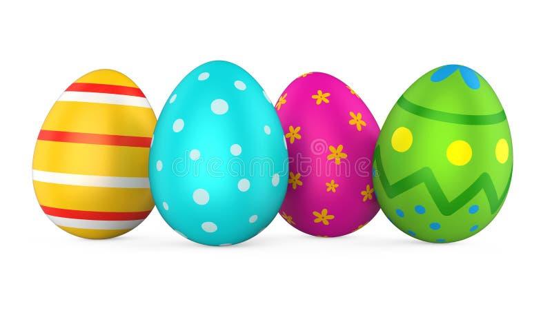 Uovo di Pasqua Isolato illustrazione di stock