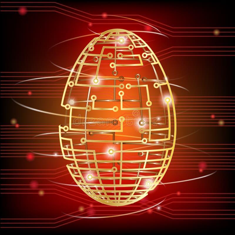 Rosso dell'uovo del circuito royalty illustrazione gratis