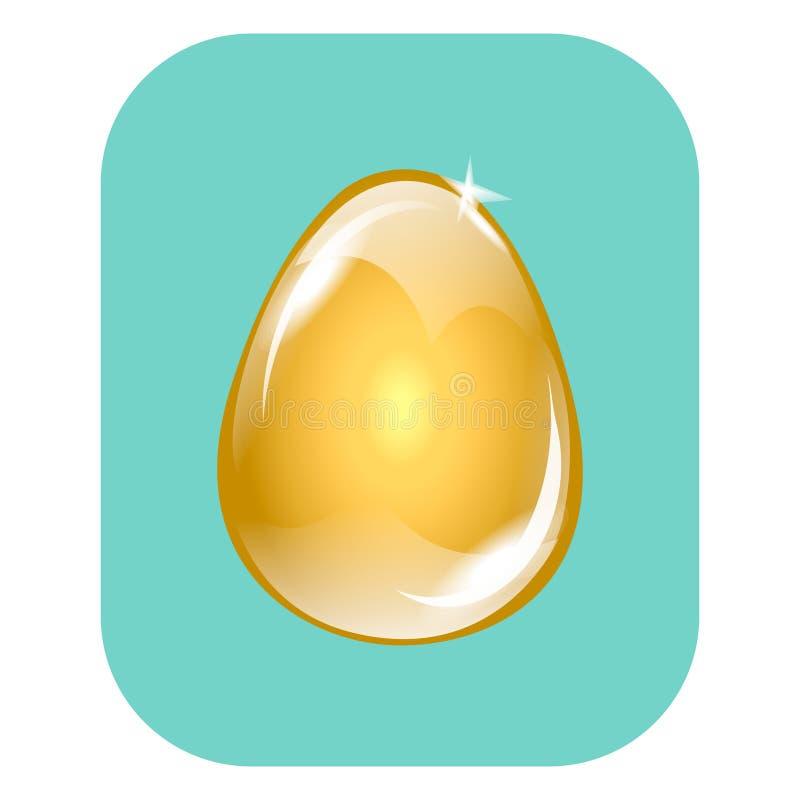uovo di Pasqua rosso con i fiori della molla illustrazione di stock