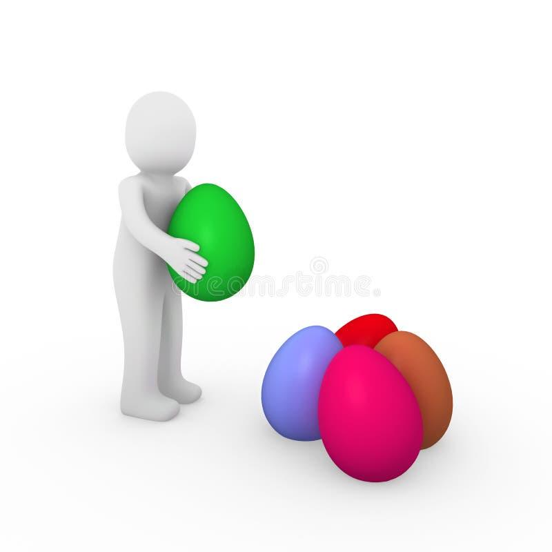 uovo di Pasqua umano di 3d royalty illustrazione gratis