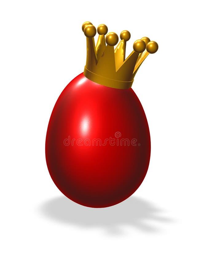 Uovo di re illustrazione di stock