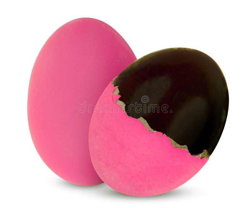 Uovo di secolo o uova conservate dell'anatra isolate su bianco fotografia stock