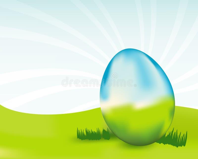 Uovo di vetro illustrazione di stock
