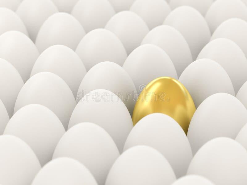 Uovo dorato. royalty illustrazione gratis