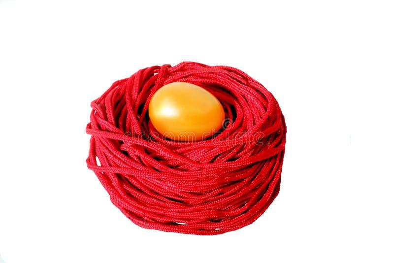 Download Uovo dorato fotografia stock. Immagine di uova, nido - 30829430