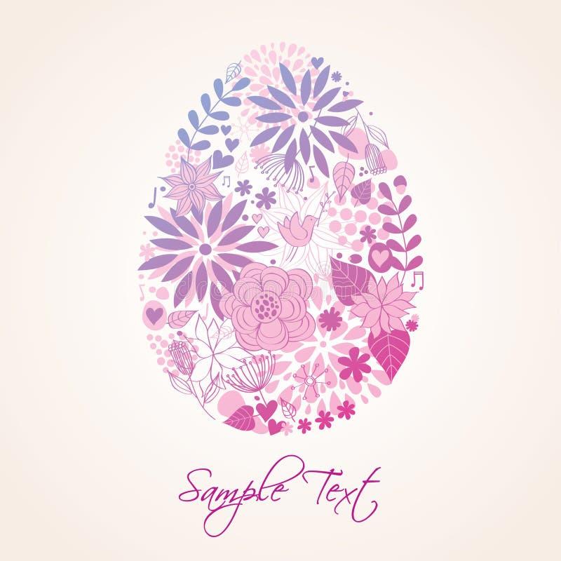 Uovo floreale di Pasqua illustrazione di stock
