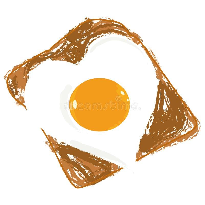 Uovo fritto illustrazione di stock