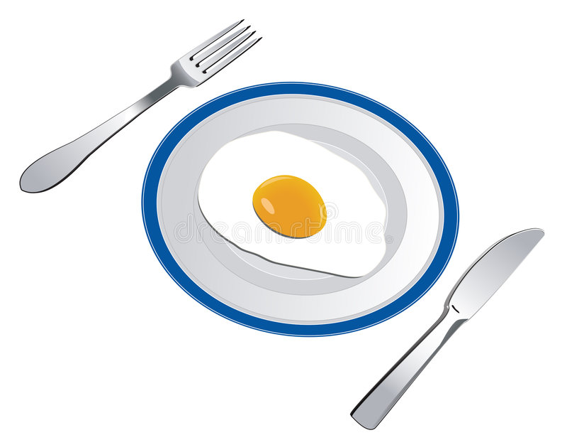 Uovo fritto royalty illustrazione gratis