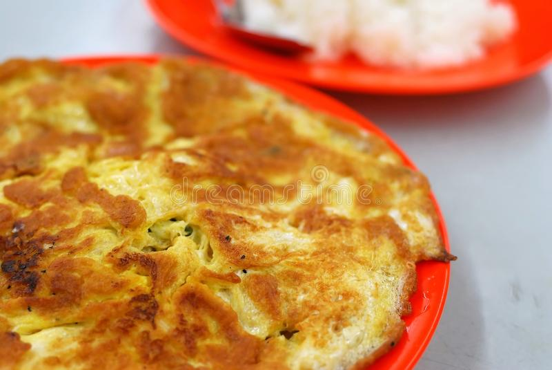 Uovo fritto o rimescolato dell'asiatico fotografia stock libera da diritti