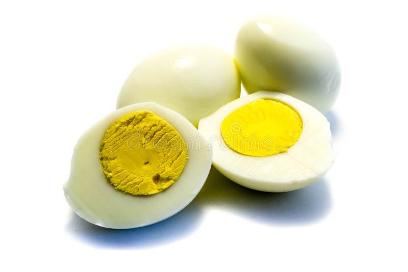 Uovo sodo isolato su fondo bianco fotografie stock libere da diritti