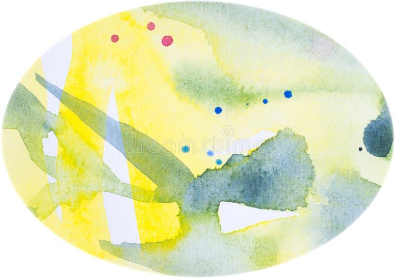 Uovo verde blu. Fondo ovale dell'acquerello illustrazione di stock