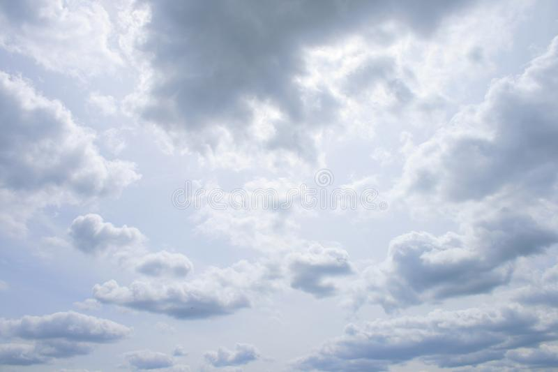 Up in the Air revisited. The most simple thing on earth is the sky, although it is not on earth royalty free stock images