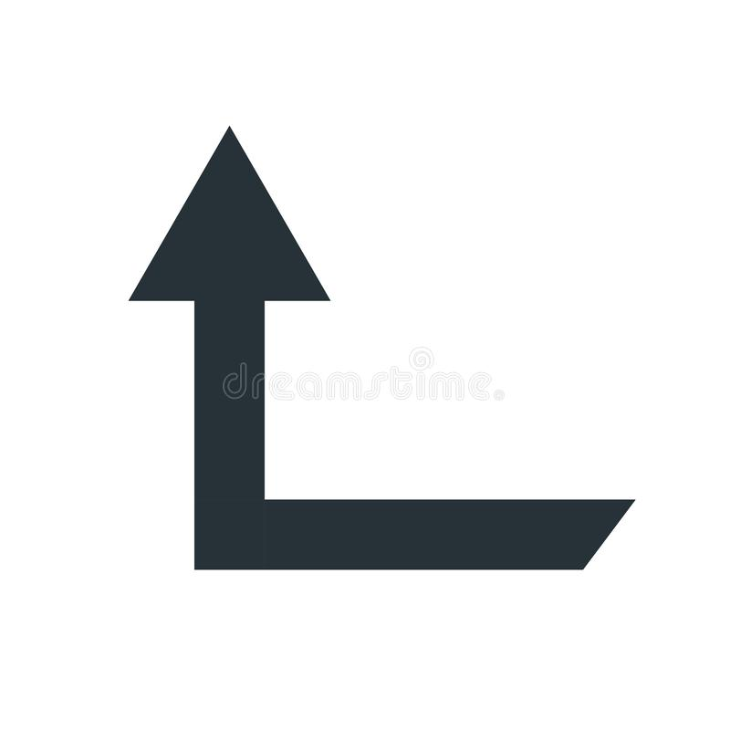 Up arrow icon vector sign and symbol isolated on white background, Up arrow logo concept stock illustration
