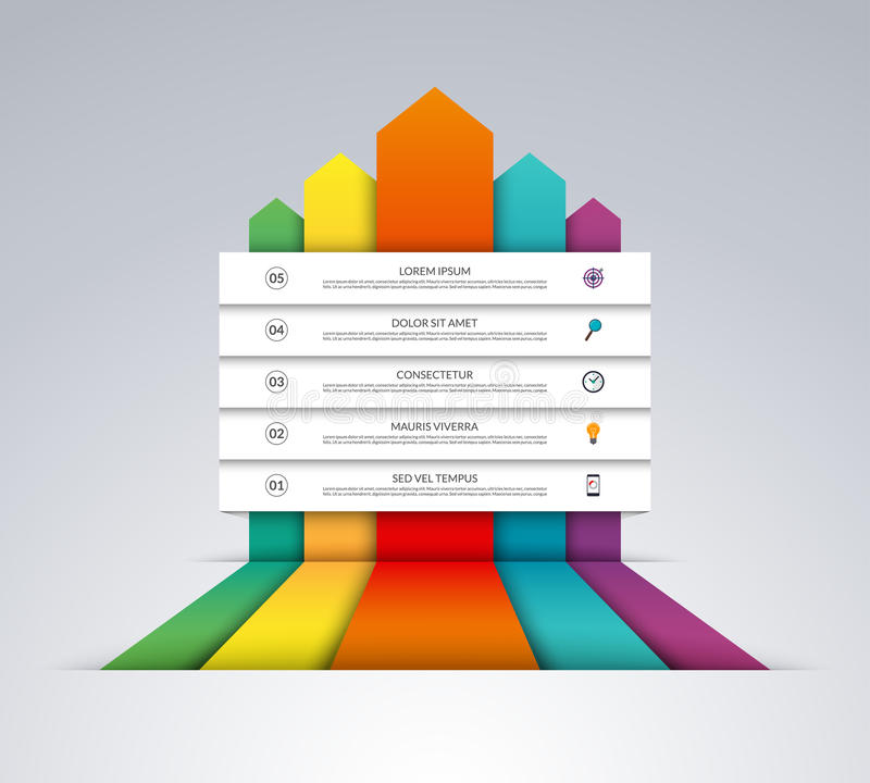 Up arrows infographic options banner vector illustration