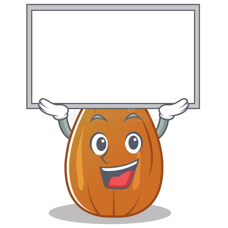 Up board almond nut character cartoon. Vector illustration vector illustration