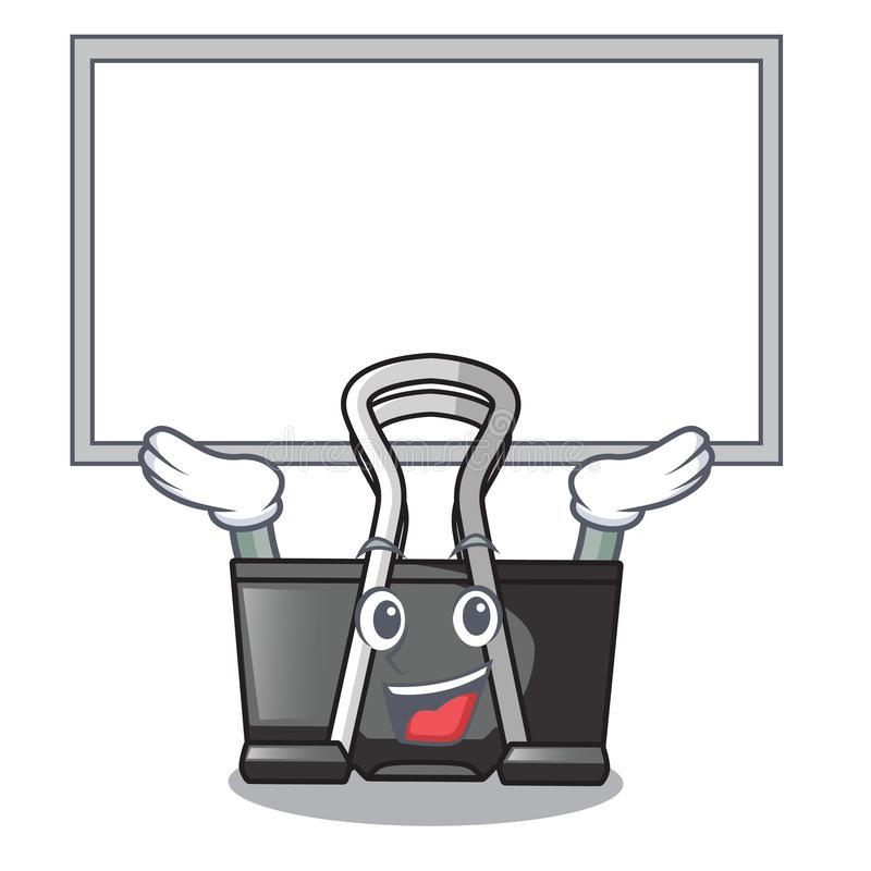 Up board binder clip in the character shape. Vector illustration royalty free illustration