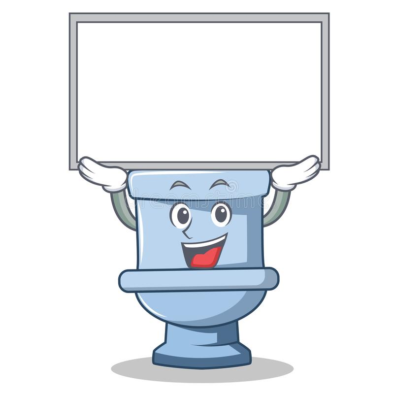 Toilet With Seat Up Stock Illustration Illustration Of