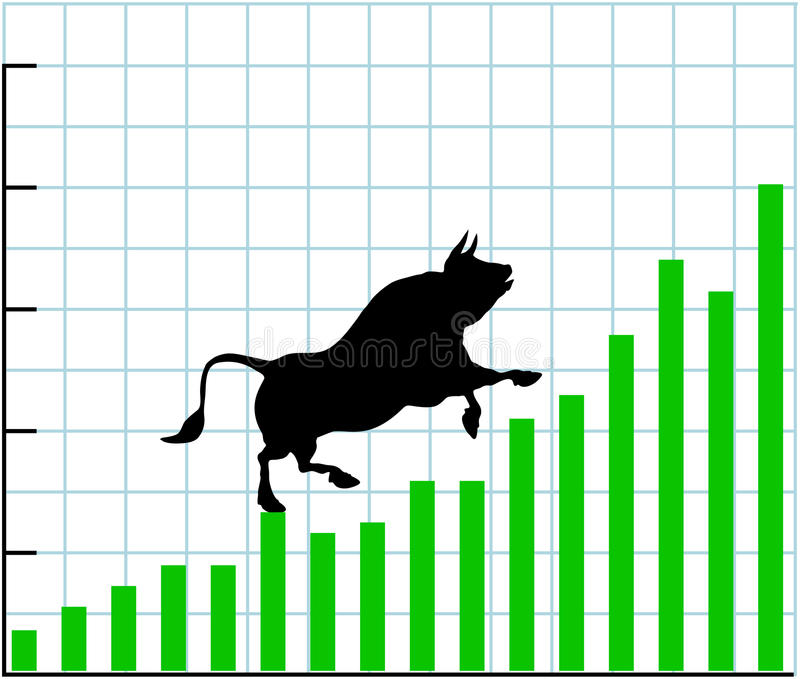 Up bull market rise bullish stock chart graph stock illustration
