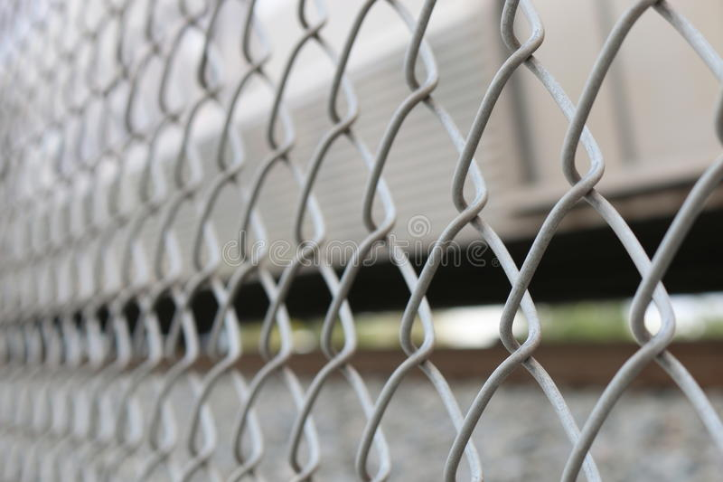 Up close on Chain link Fence - Angled royalty free stock images