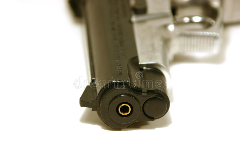 Up Close On A Gun Royalty Free Stock Photo