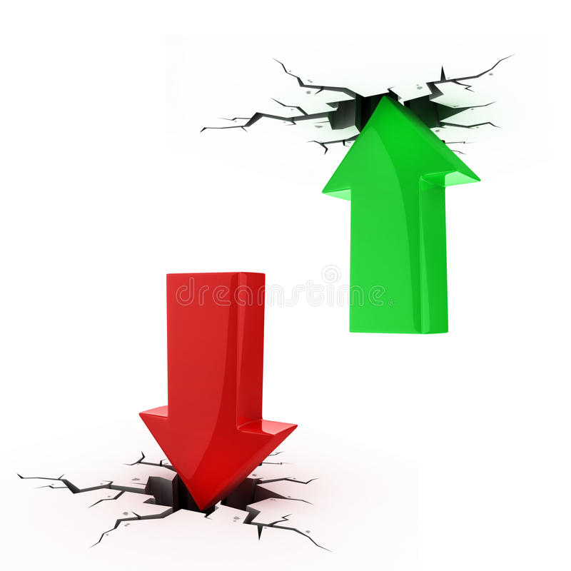 Download Up And Down Arrows Break Up The Floor And Ceiling Stock Illustration - Image: 19349061