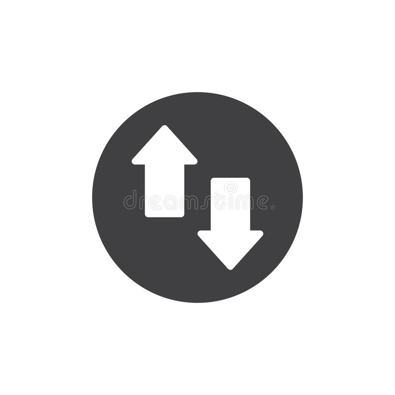 Up and down arrows icon vector stock illustration