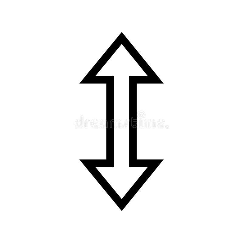 Up & Down Icon stock illustration