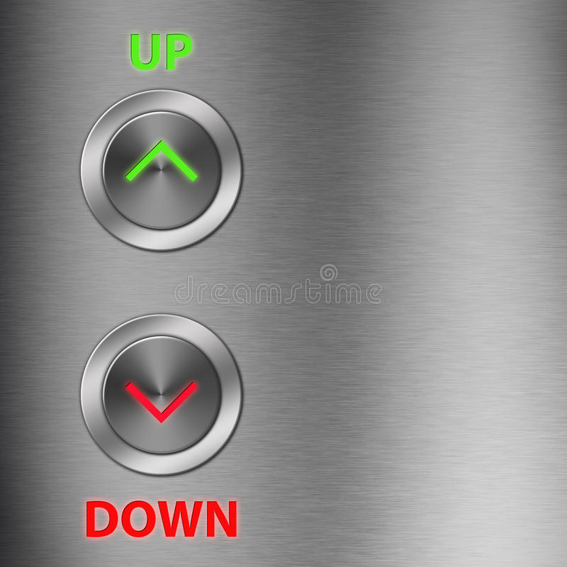 Download Up and Down metalic button stock illustration. Image of high - 24807491