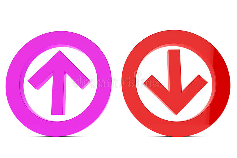 Download Up And Down Sign Royalty Free Stock Photography - Image: 21031007