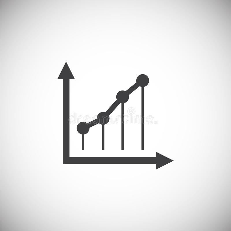 Up grow chart icon on background for graphic and web design. Simple illustration. Internet concept symbol for website. Button or mobile app royalty free illustration