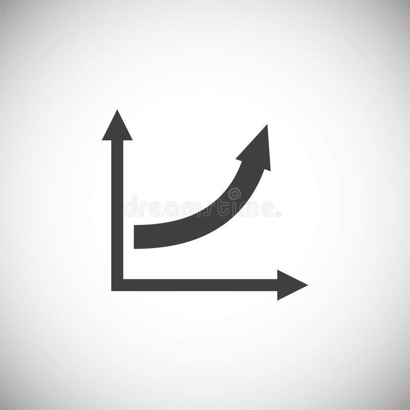 Up grow chart icon on background for graphic and web design. Simple illustration. Internet concept symbol for website. Button or mobile app stock illustration