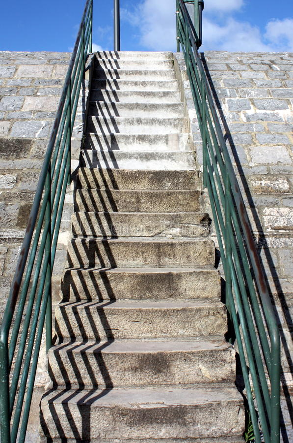 Up stairs royalty free stock photo