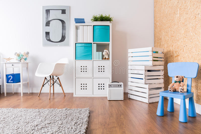 Up-to-date decor of child's room royalty free stock image
