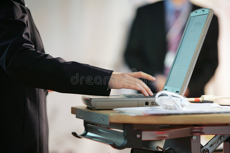 Up to date - powerpoint presentation stock photos