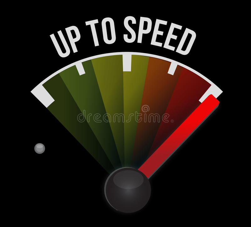 Up to speed vector illustration